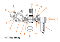 1/2 in Pipe String Assemblies with Components